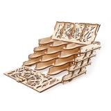 Puzzle 3D, lemn, mecanic Suport pentru carti de joc, 77 piese, Ugears