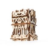 Puzzle 3D, lemn, mecanic Cutie pentru carti de joc, 64 piese, Ugears
