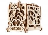 Puzzle 3D, lemn, mecanic Cutie mecanica pentru zaruri, 62 piese, Ugears