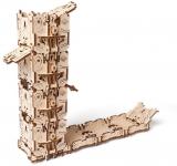 Puzzle 3D, lemn, mecanic Turn mecanic pentru zaruri, 172 piese, Ugears
