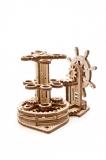 Puzzle 3D, lemn, mecanic Organizator pentru birou, 51 piese, Ugears