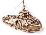 Puzzle 3D, lemn, mecanic Model Remorcher, 169 piese, Ugears