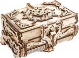 Puzzle 3D, lemn, mecanic Model Cutie antica de bijuterii, 185 piese, Ugears