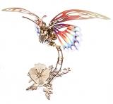 Puzzle 3D, lemn, mecanic Fluture mecanic, 161 piese, Ugears
