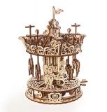 Puzzle 3D, lemn, mecanic Model Carusel, 305 piese, Ugears