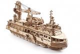 Puzzle 3D, lemn, mecanic Model Nava de cercetare, 575 piese, Ugears