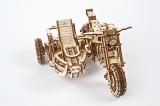 Puzzle 3D, lemn, mecanic Model Motocicleta Scrambler UGR-10, 380 piese, Ugears