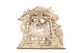 Puzzle 3D, lemn, mecanic Nasterii Domnului, 59 piese, Ugears