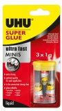 Super Glue mini 3 x 1 g UHU