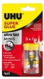 Super Glue mini 3 x 1 g UHU
