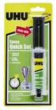 Adeziv epoxy quick set seringa UHU