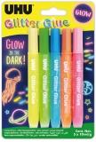 Adeziv cu sclipici Glitter Glue Fosforescent 5 x 10 ml UHU