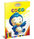 Carte de colorat A4 gradinita Coloreaza cu Coco