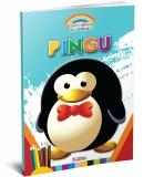 Carte de colorat A4 gradinita Coloreaza cu Pingu