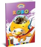 Carte de colorat A4 gradinita Coloreaza cu Robo
