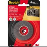 Banda dublu adeziva neagra, super strong, 1.5 m x 19 mm, Scotch 3M