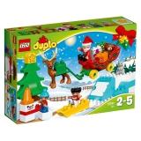 Vacanta de iarna cu Mos Craciun 10837 LEGO Duplo