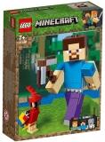 Steve Minecraft BigFig cu papagal 21148 LEGO Minecraft
