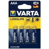 Baterie alcalina R3 (AAA), 4 buc/blister Longlife Varta