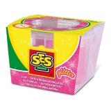 Conserva pasta de modelat 90 gr. ( Roz cu sclipici ) - SES (S00408)