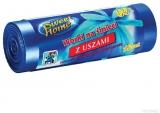 Saci menajeri HDLD cu manere albastru 60 L, 15 buc/rola Sweet Home