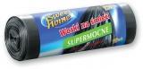 Saci menajeri LDPE, negru, 120 L, 10 buc/rola Sweet Home