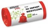 Saci menaj ultrarezistenti, LDPE, 35 L, 20 buc/set Rosu Service Pack
