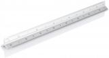 Rigla triungiulara 30 cm aluminiu