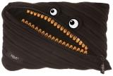 Penar cu fermoar, Grillz Monster Jumbo, culoare negru cu dinti aurii Zipit