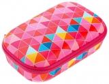 Penar cu fermoar, Colorz Storage box, model triunghiuri roz Zipit