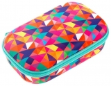 Penar cu fermoar, Colorz Storage box, model triunghiuri color asortate Zipit