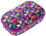 Penar cu fermoar, Colorz Storage box, model triunghiuri, culoare mov Zipit