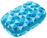 Penar cu fermoar, Colorz Storage box, model triunghiuri albastre Zipit