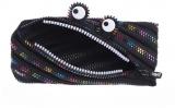 Penar cu fermoar, negru cu dinti curcubeu Monster Special Edition Zipit