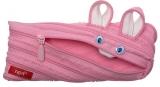 Penar cu fermoar Animals Iepure roz deschis Zipit