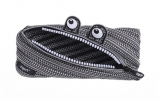 Penar cu fermoar, Monster Special Edition, culoare negru cu alb Zipit