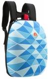 Rucsac 42 cm Shell triunghiuri albastre Zipit