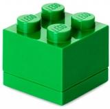 Mini cutie depozitare 40111734 LEGO 2x2 verde inchis