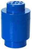 Cutie rotunda depozitare 40301731 LEGO 1x1 albastru inchis