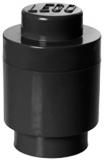 Cutie rotunda depozitare 40301733 LEGO 1x1 negru