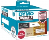 Eticheta in rola pentru Labelwriter 25 x 89 mm plastic alb 700 buc/rola Dymo
