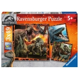 Puzzle Jurassic World, 3X49 Piese Ravensburger