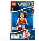 Breloc cu lanterna Wonder Woman LGL-KE70 LEGO DC Super Heroes