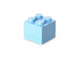 Mini cutie depozitare 40111736 LEGO 2x2 albastru deschis