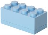 Mini cutie depozitare 40121736 LEGO 2x4 albastru deschis