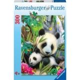 Puzzle ursi panda, 300 piese Ravensburger