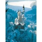Puzzle castelul Neuschwanstein iarna, 1500 piese Ravensburger