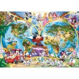Puzzle harta lumii Disney, 1000 piese Ravensburger