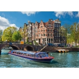 Puzzle turul canalului in Amsterdam, 1000 piese Ravensburger