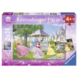 Puzzle printesele incantatoare, 2x24 piese Ravensburger